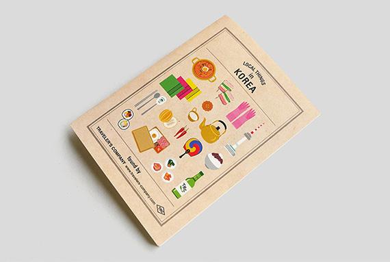 TF トラベラーズノート パスポートサイズ リフィル Local Things in KOREA