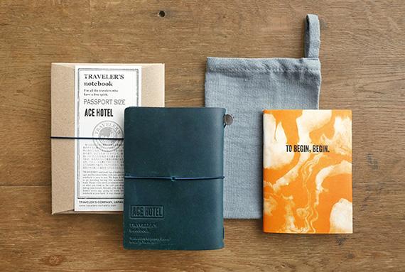 TF トラベラーズノート パスポートサイズ ACE HOTEL ブルー1