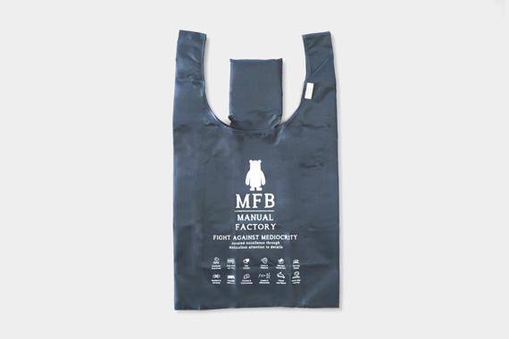 MANUAL FACTORY BEAR ショッピングバッグ ネイビー