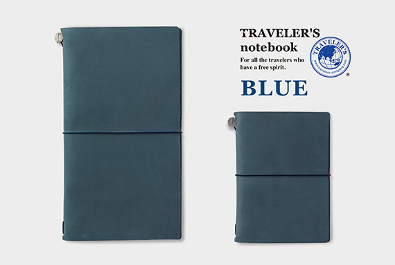 TRAVELER'S notebook Blue_top
