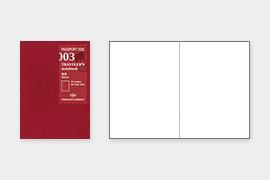 トラベラーズノート パスポートサイズ リフィル 無罫 MD (14370006)