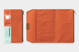 トラベラーズノート コットンジッパーケース オレンジ(14435006)