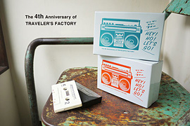 トラベラーズファクトリー4周年記念缶セット