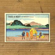 TF ポストカード JAPAN テイク ア レスト柄 (07100343)