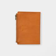 TF パスポートサイズ レザージッパーケース ブラウン