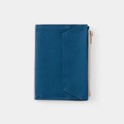 TF パスポートサイズ ペーパークロスジッパー ブルー