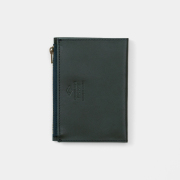 TF パスポートサイズ レザージッパーケース ブルー