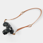 benlly's & job レザーカメラストラップ2 L ライトブラウン
