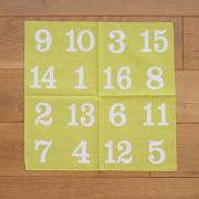 水縞 16図柄バンダナ ビンゴ グリーン
