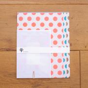 水縞 水縞包み紙レターセット 水玉