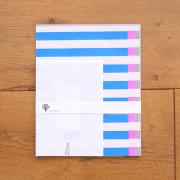 水縞 水縞包み紙レターセット 縞々