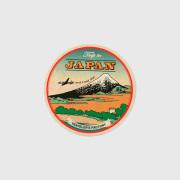 バゲッジステッカー 丸 JAPAN 浮世絵