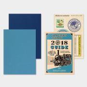 トラベラーズノート パスポートサイズ リフィル 2018 週間