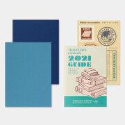 トラベラーズノート パスポートサイズ リフィル 2021 週間