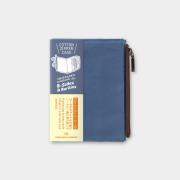 トラベラーズノート パスポートサイズ コットンジッパー ブルー