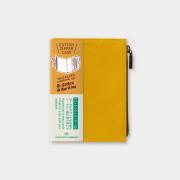 トラベラーズノート パスポートサイズ コットンジッパー マスタード