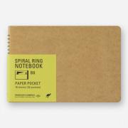 TRC スパイラルリングノート<B6> ペーパーポケット