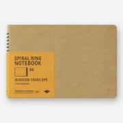TRC スパイラルリングノート<B6> 窓付封筒