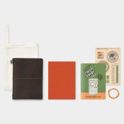 トラベラーズノート パスポートサイズ 2019 月間 茶