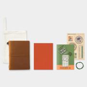 トラベラーズノート パスポートサイズ 2019 月間 キャメル
