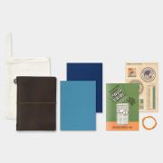 トラベラーズノート パスポートサイズ 2019 週間 茶