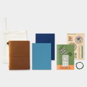 トラベラーズノート パスポートサイズ 2019 週間 キャメル