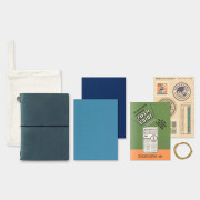 トラベラーズノート パスポートサイズ 2019 週間 ブルー