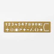 TRC ブラス テンプレートブックマーク ナンバー